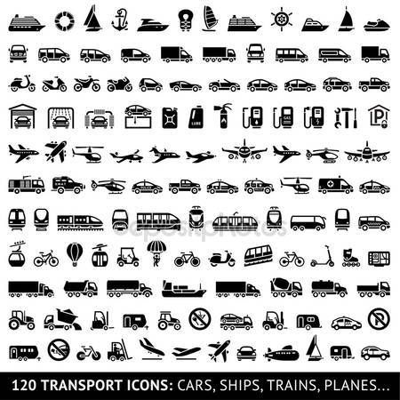 Imagesthai Com Royalty Free Stock Images Photos Illustrations Music And Vectors 120 Transport Icon Trains Camion Transport Planes