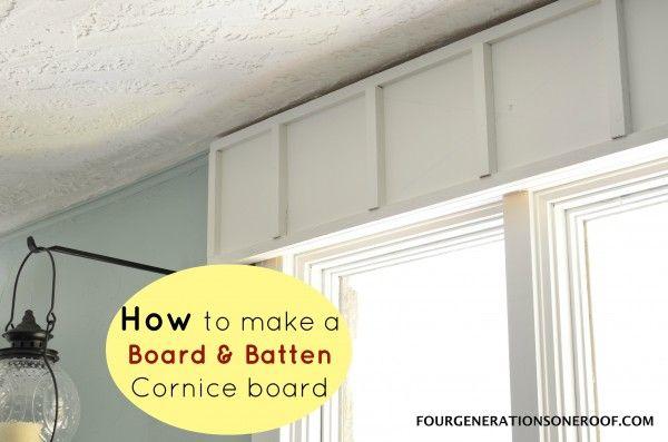 Diy Wooden Cornice Board Board Amp Batten Trim Wooden