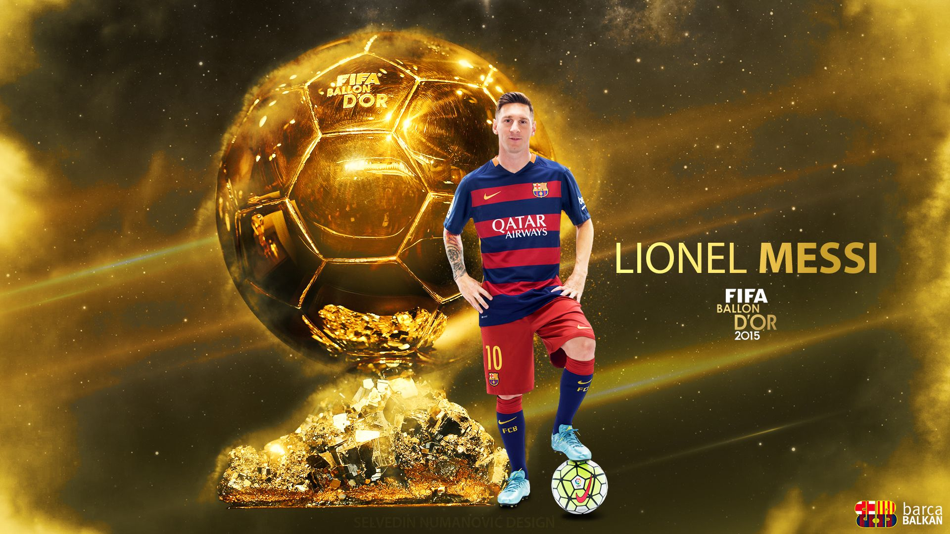 Messi Wallpaper Ballon D Or Messi Lionel Messi Wallpapers