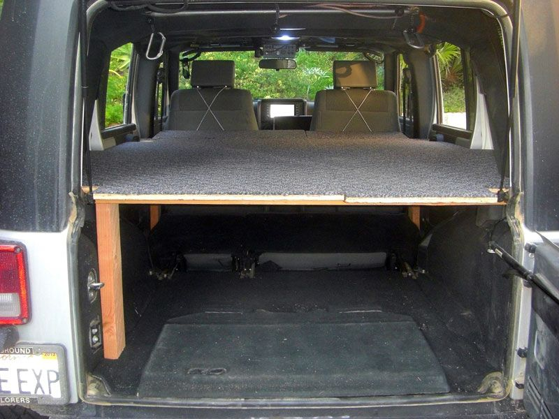 Jeep Sleeping Platform Www Jk Forum Com Forums Jk Write Ups 39 Elevated Sleeping Stowage Platform Jku 2486 Jeep Wrangler Camping Jeep Wrangler Camper Jeep Jk
