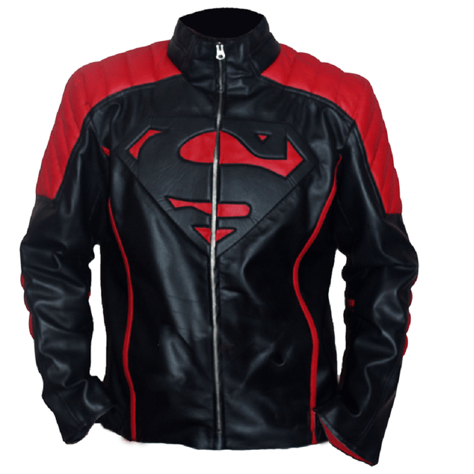 Superman Black and Red Leather Jacket in 2020 Leather