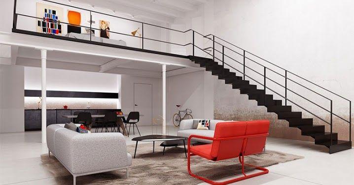 4 magnifiques lofts en duplex avec dimmenses fenêtres architecture design interiordesign