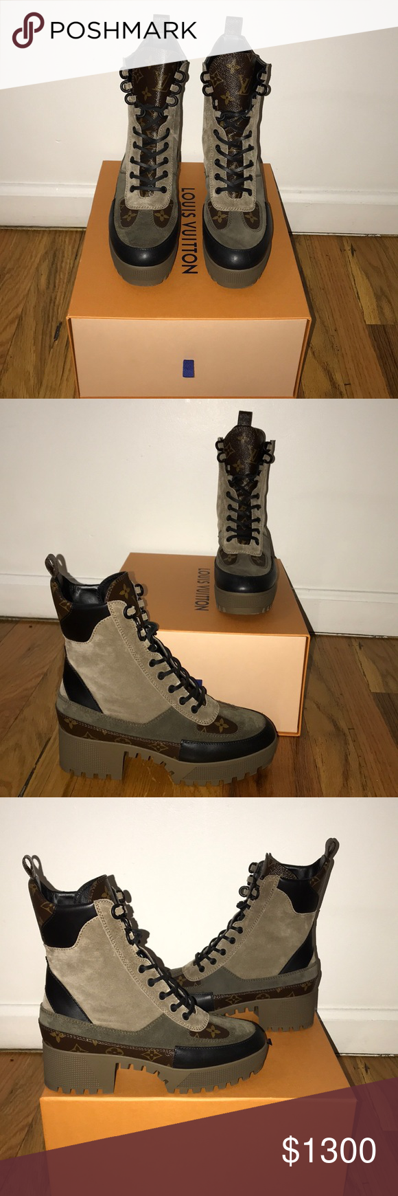 aac3a89ff48 LV Laureate Platform Desert Boot BRAND NEW. This gorgeous pair of ...