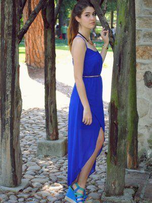 Vestido azul klein zara