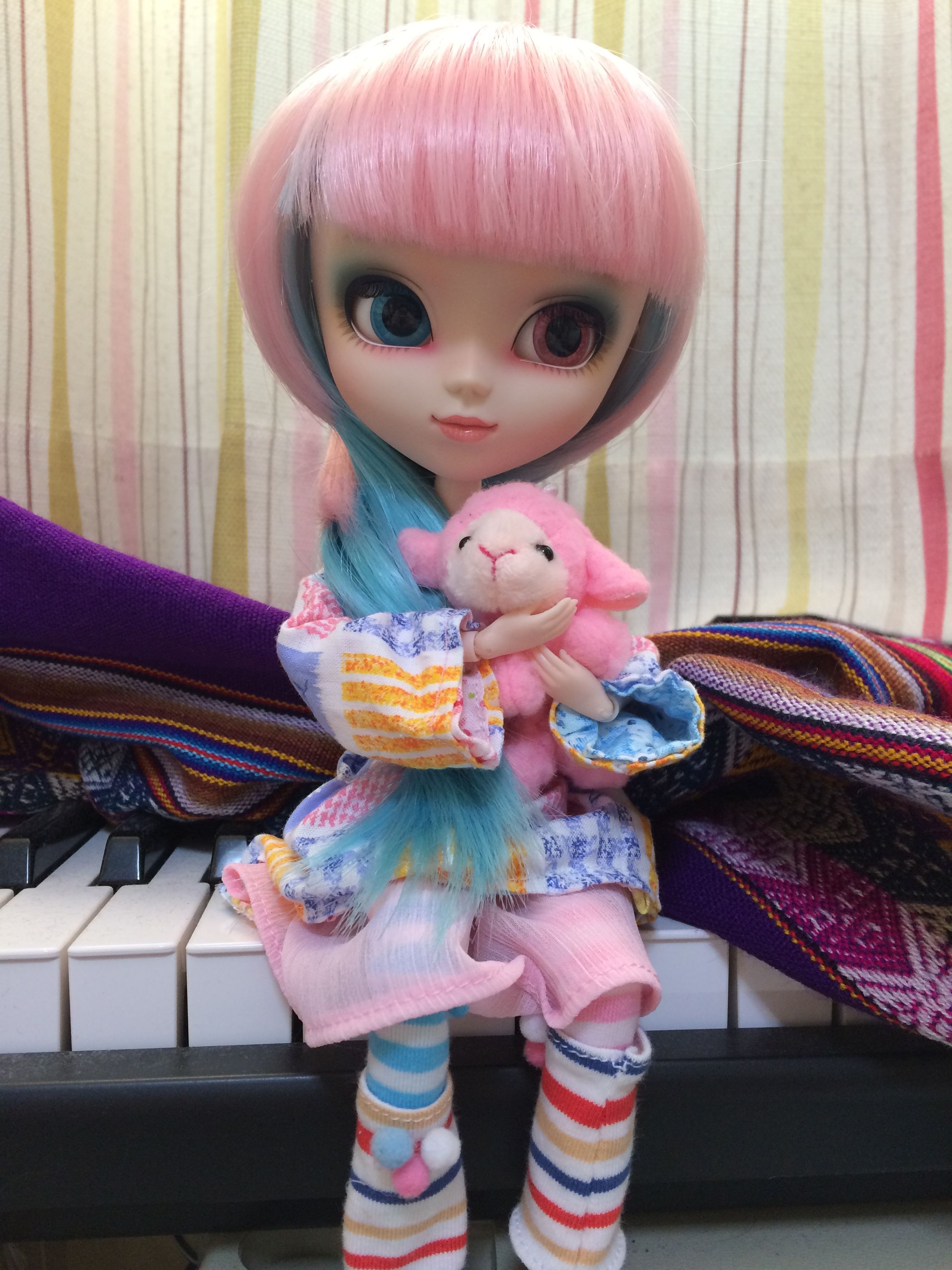Akemi enjoying her new reversible dress.