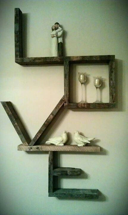 pallet - love - shelf