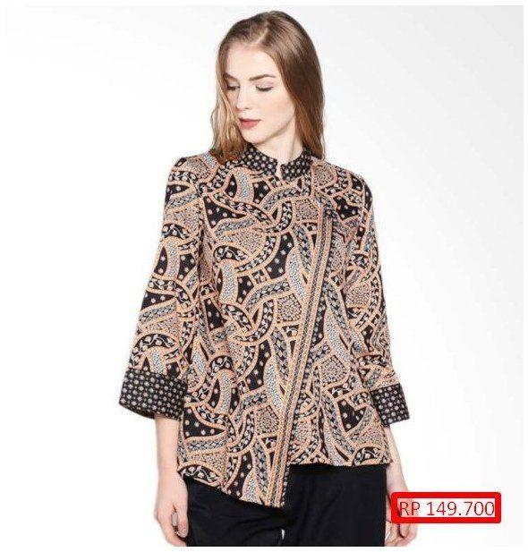 desain blouse batik