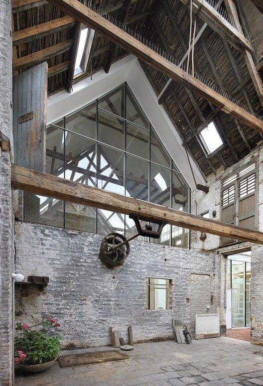 Gallery of tangram architecten de vylder vinck taillieu 9 plans pinterest maison plan - Renovation maison de campagne ...