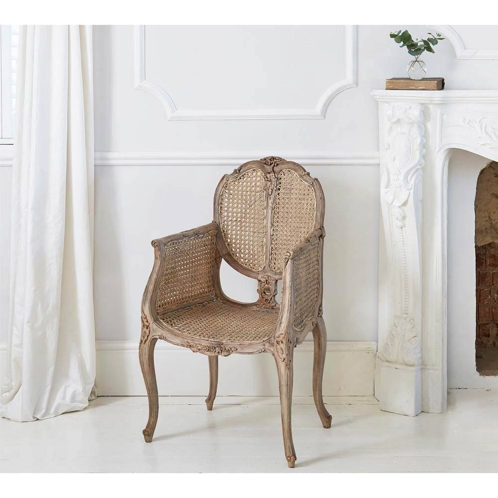 Chateauneuf Rustic Rattan Chair Decorate Furnishings French Old