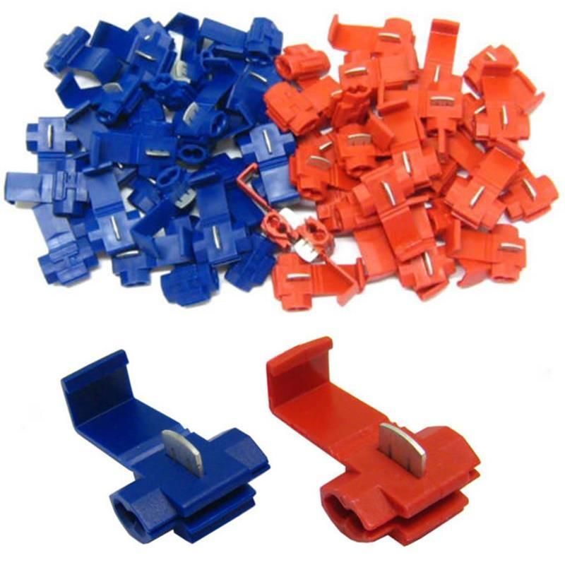 20Pcs Lock Wire Electrical Cable Connector Quick Splice Terminals blue