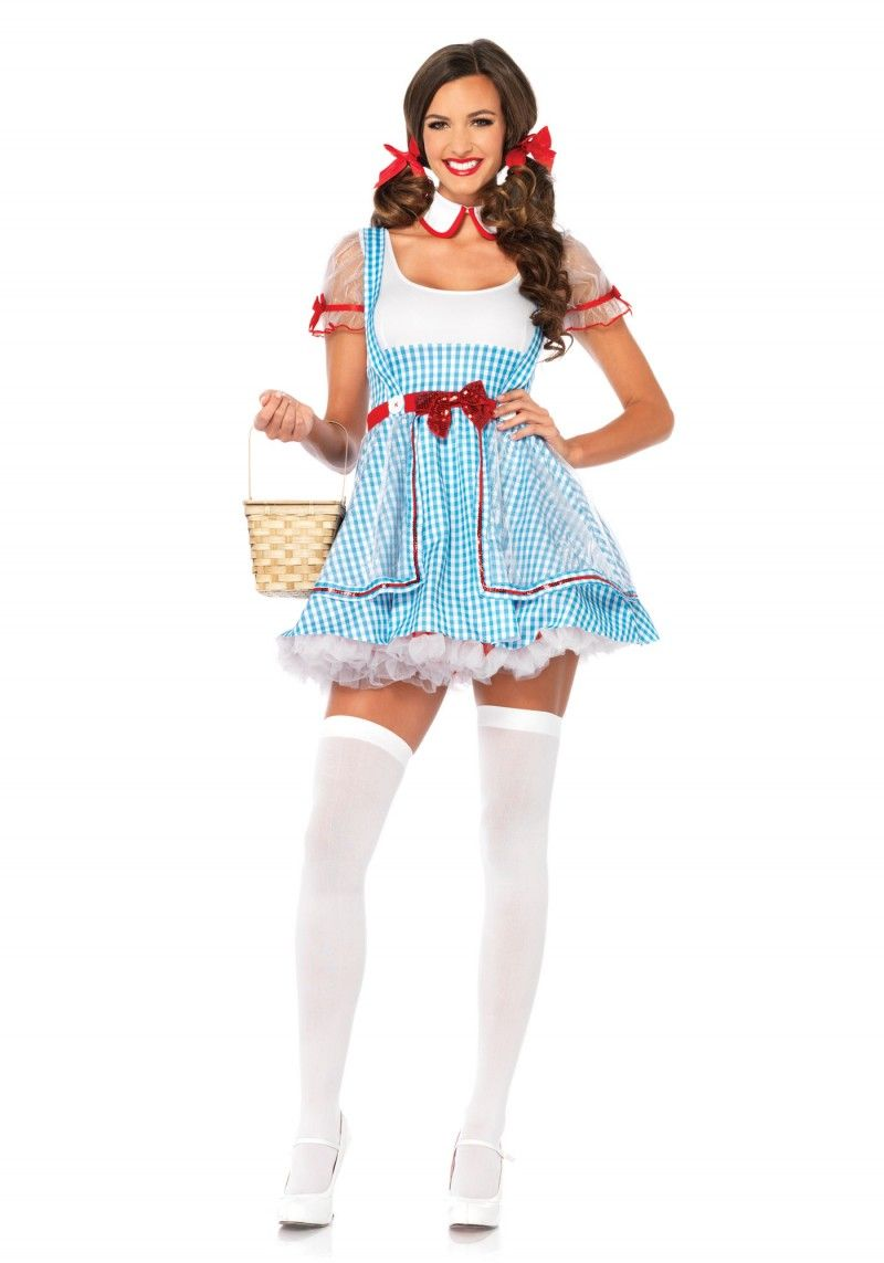 our oz beauty dorothy halloween costume from leg avenue features