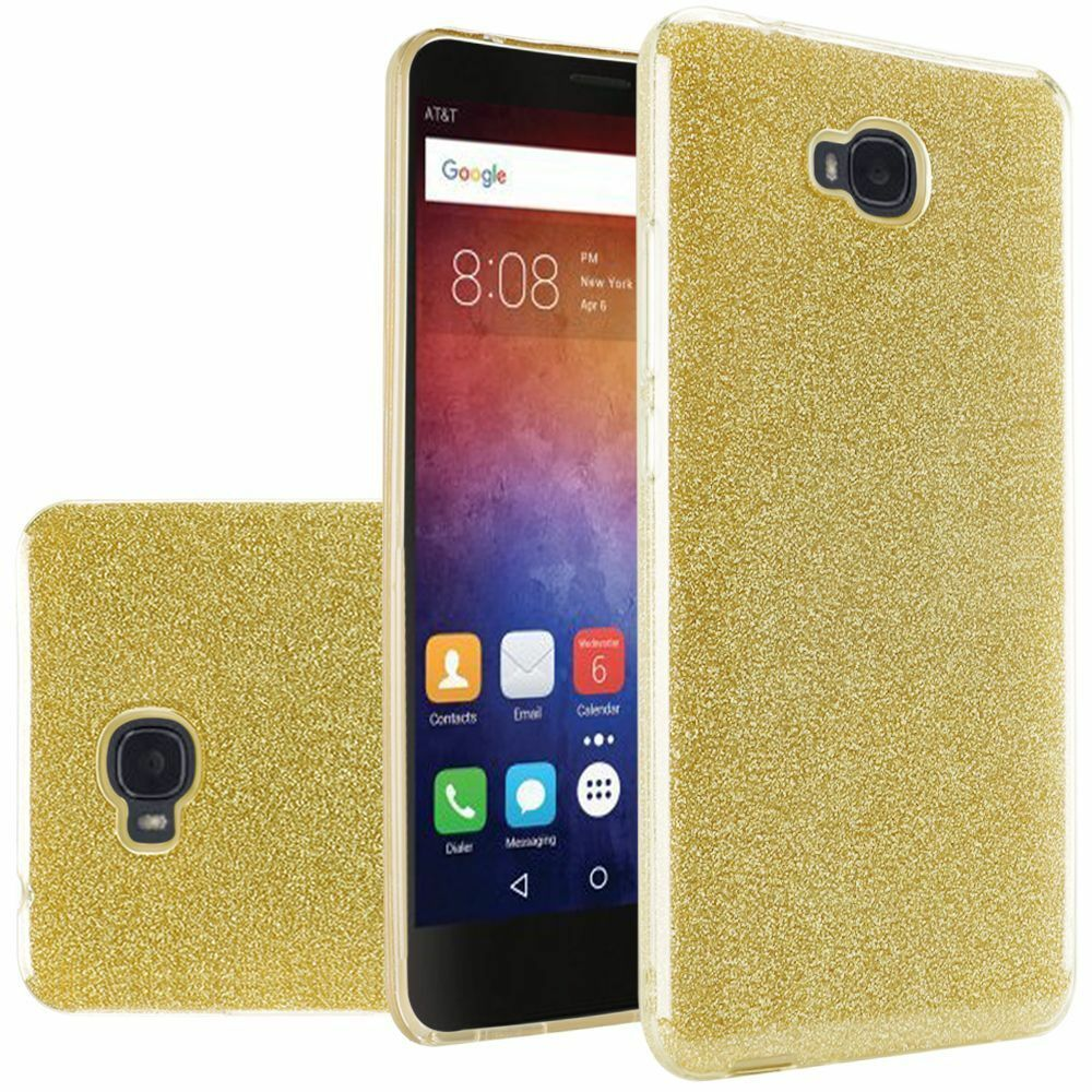 finest selection fec8a 7b839 Gold Glitter Slim PC TPU Rubber Case Cover For Huawei Ascend XT ...