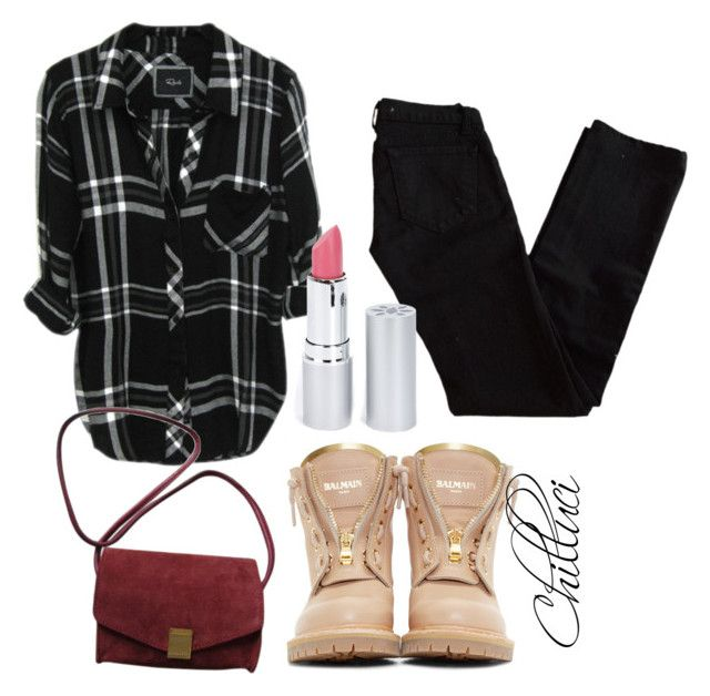 """""""Autumn 2015"""" by chilluci on Polyvore featuring J Brand, Balmain, Zadig & Voltaire and HoneyBee Gardens"""