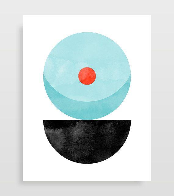 Geometrische Große Wandkunst 3er Set, Geometrische Kunst Drucke, Große Abstrakte  Kunst, Wohnzimmer, Mitte Jahrhundert Modern Wandkunst, Abstrakten Print