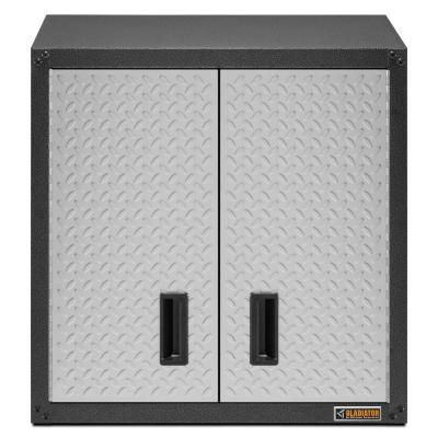 Gladiator 28 In W X 28 In H X 12 7 In D Steel Wall Cabinet In Hammered Granite For Gear Wall Gear Track Gawg28fdyg Wall Boxes Door Wall Garage Wall Cabinets