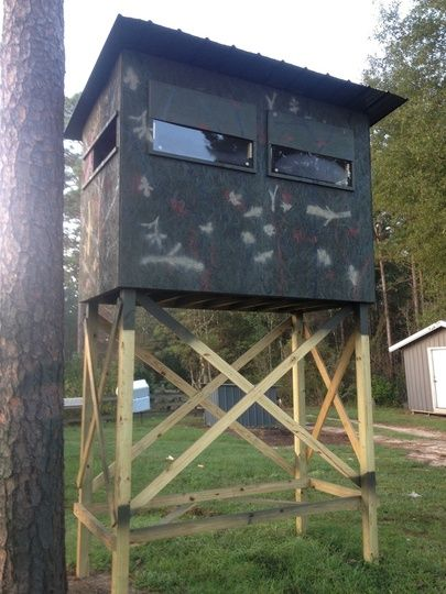 Deer Hunting Shooting Houses | Projects to Try | Pinterest ...