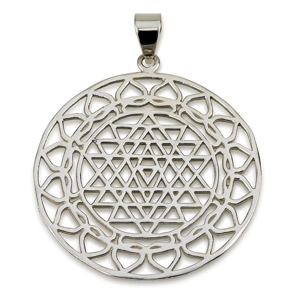 Classic sri yantra pendant sterling silver 925 size 16 sacred classic sri yantra pendant sterling silver 925 size 16 sacred geometry yoga magaya aloadofball Image collections