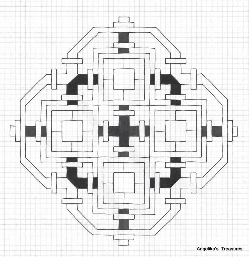 # Graph Paper Art , # Angelika's Treasures # Own design