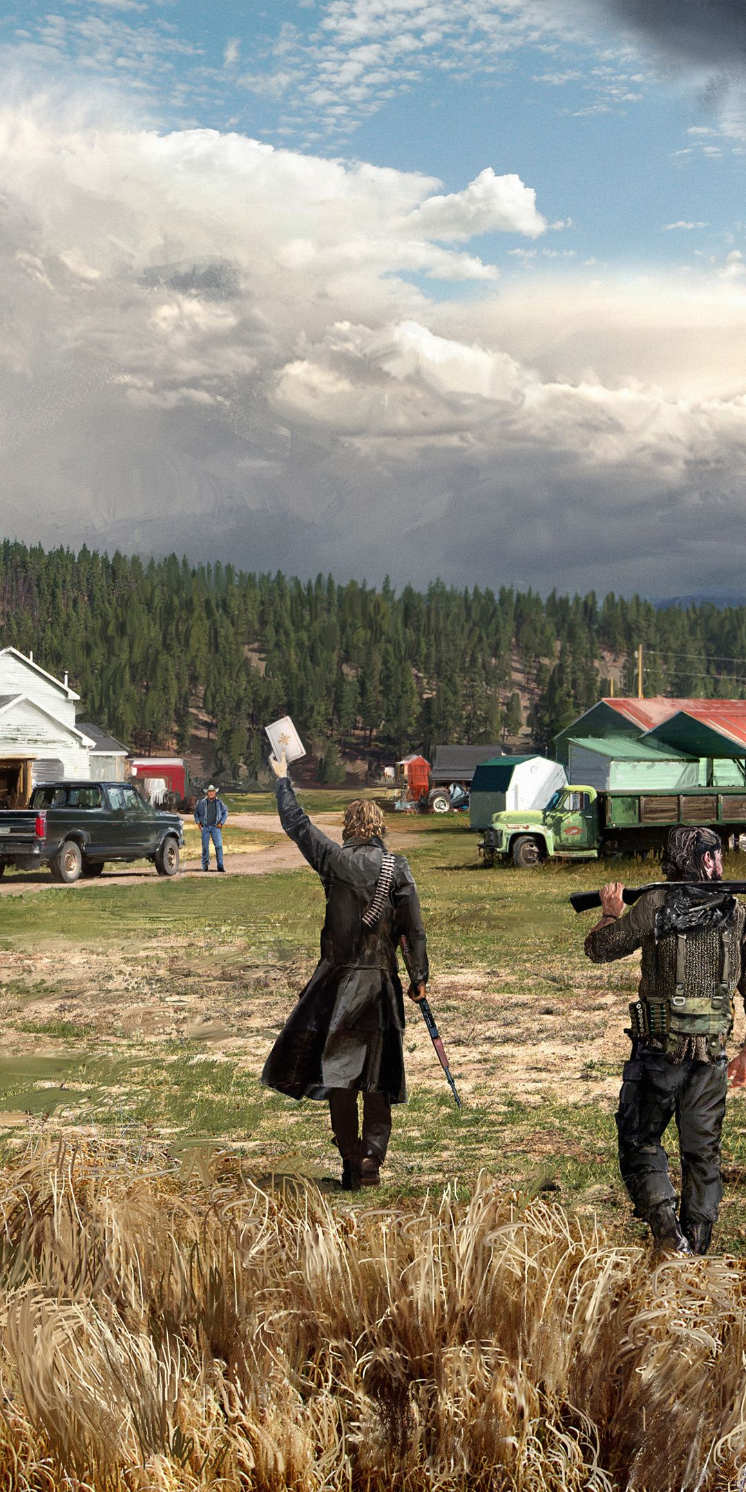 2018 Landscape Crew Video Game Far Cry 5 1080x2160 Wallpaper