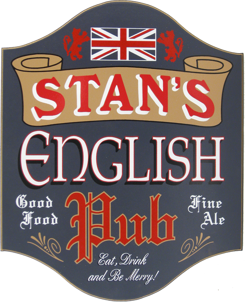 English Pub Personalized Bar Sign