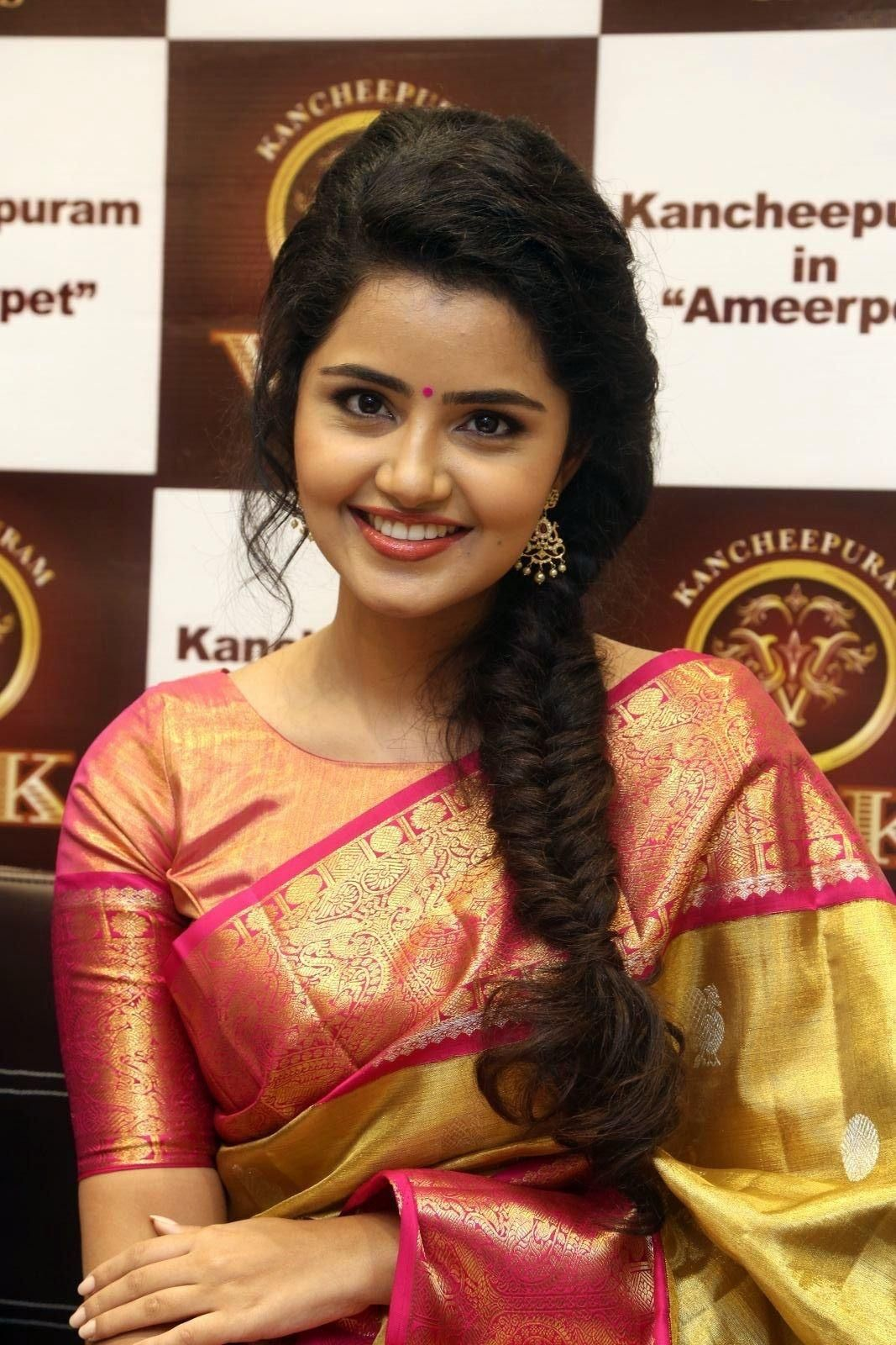 Anupama Parameswaran Simple Hairstyle For Saree Saree Hairstyles South Indian Hairstyle