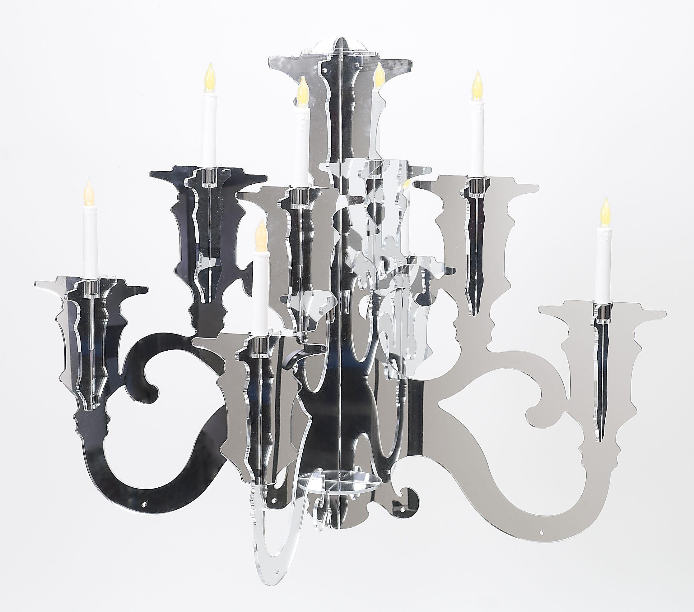 Baroque Acrylic Chandelier LIG38. All Acrylic Baroque Silhouette ...