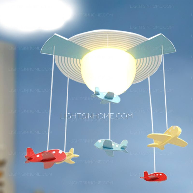 Kids Ceiling Light For Bedroom And Cute Glass Shade ...