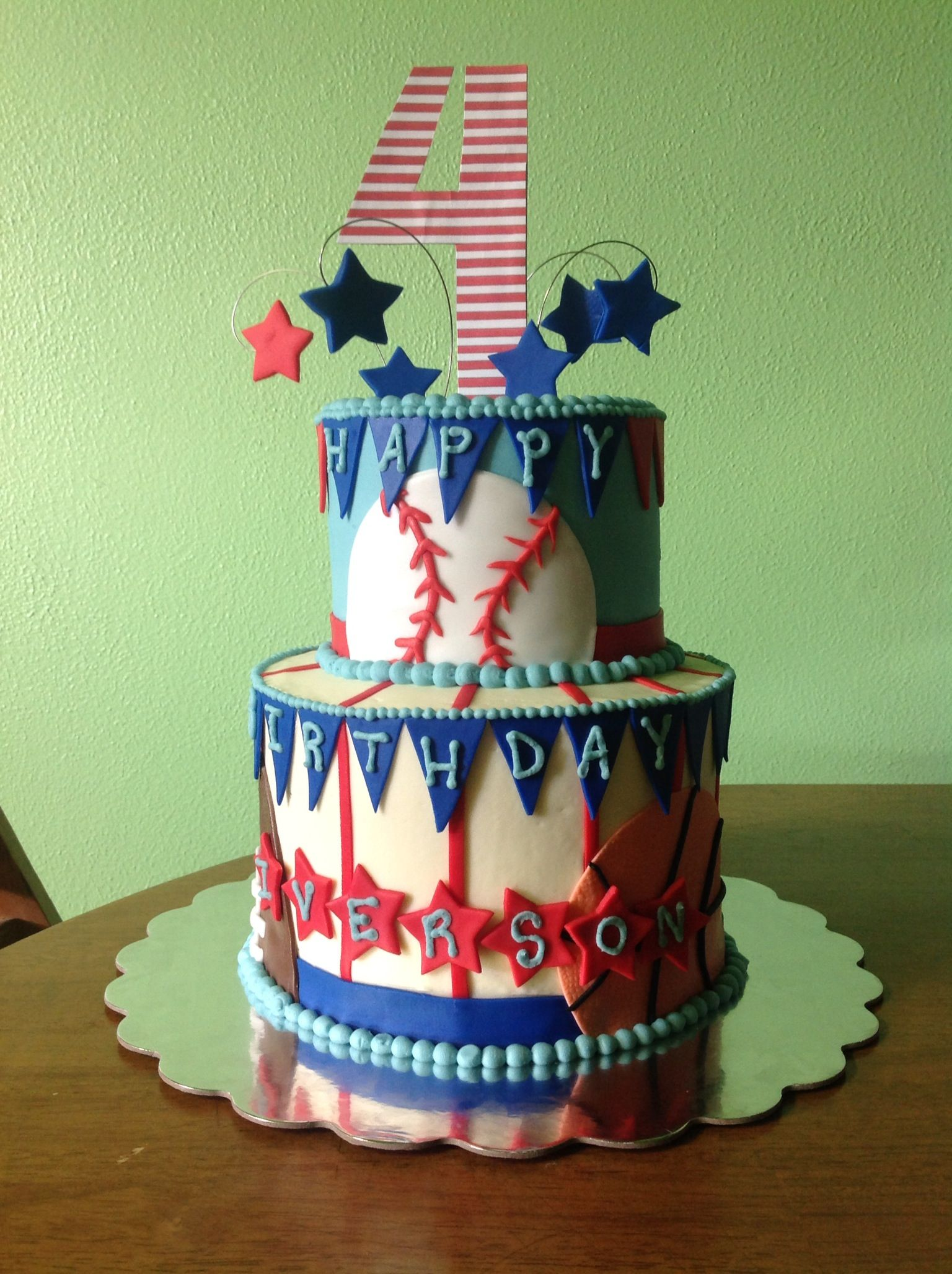 Sports Birthday Cake By Nikki Doan Cakes By Nikki Doan Pinterest