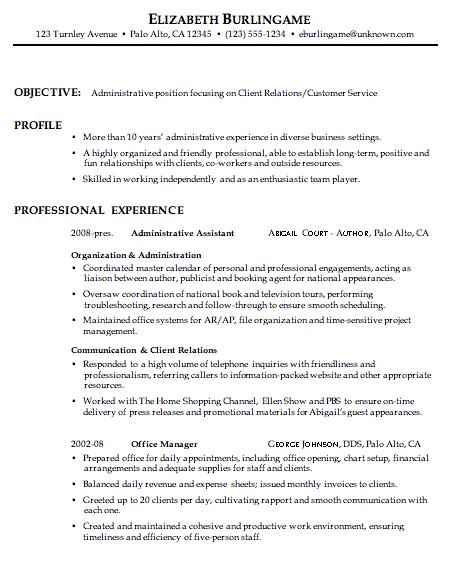 Combination Resume Sample Administrative Customer Service Customer Service Resume Customer Service Resume Examples Resume Examples