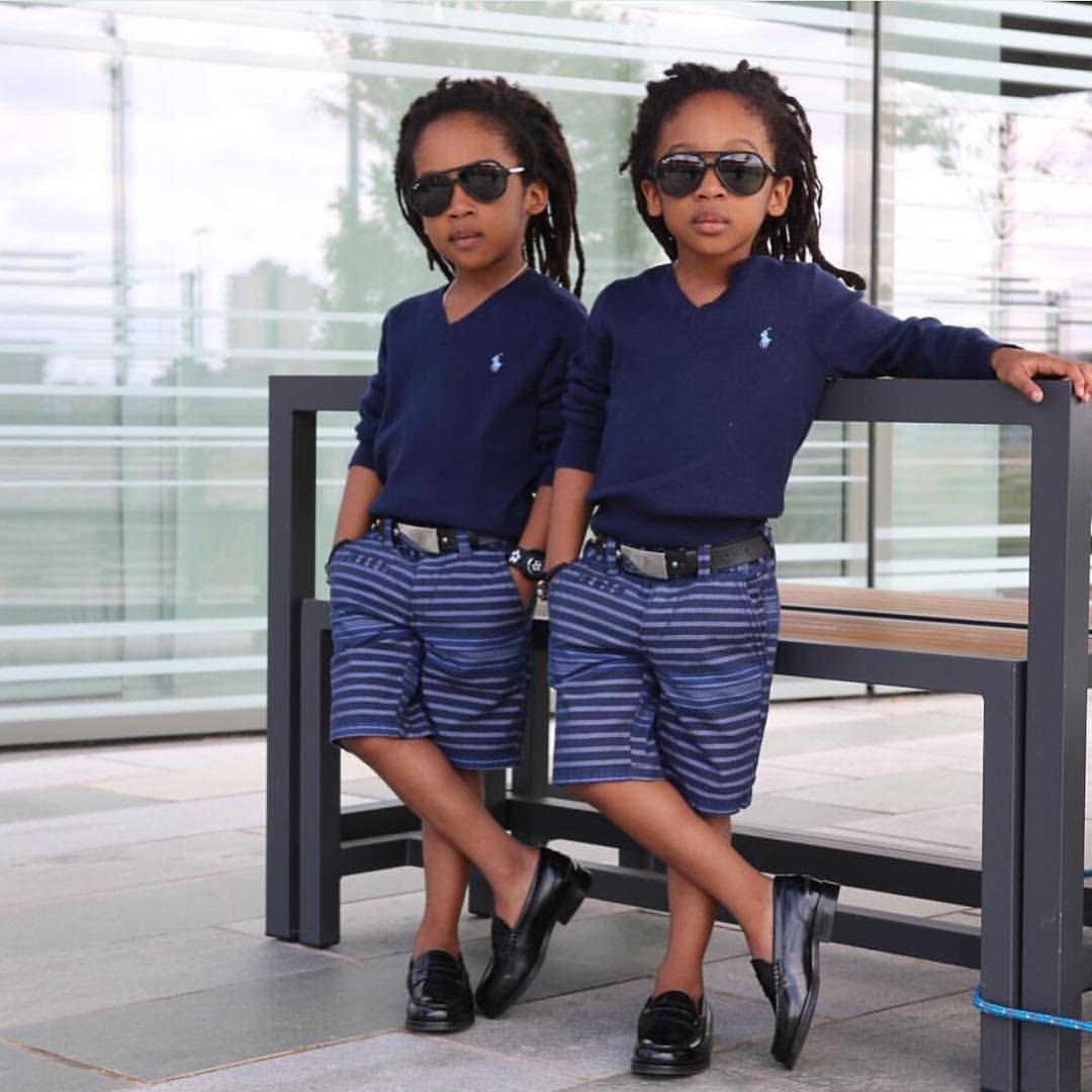 Double the swag! Happy Monday fans:). #munamommy #cute #twinning #twins #kidsfashion #munaluchi @2yungkings