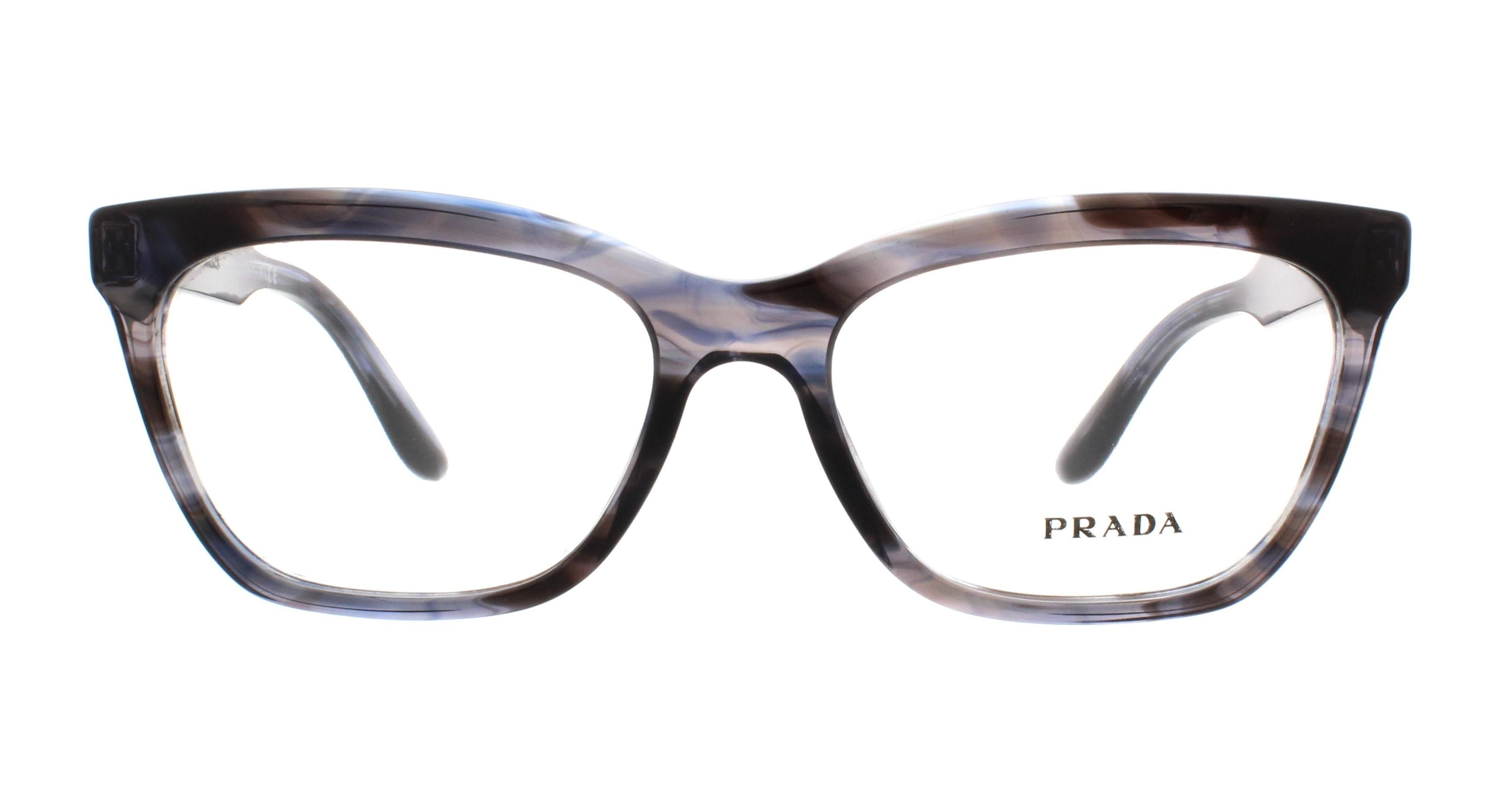 2ca54e95b6b33 Prada PR 24SV UEQ-1O1 Blue Womens VPR 24S Eyeglasses Size 53   style ...