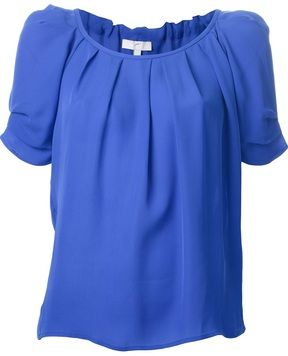5348e91d1fb2db Joie pleated shortsleeved blouse on shopstyle.com   Catches my eye ...