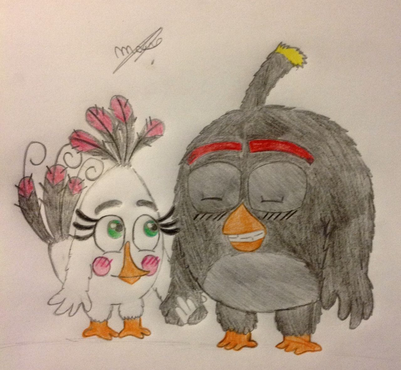 """mai-fanblog :     Bomb and Matilda in version """"The angry birds movie"""" They are very cute together, I CAN NOT WAIT TO SEE THE MOVIE    Bonus      Ah…Chuck"""