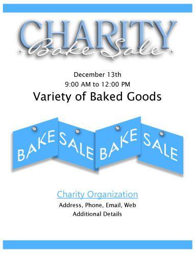 charity bake sale flyer fundraisers bake sale flyer bake sale