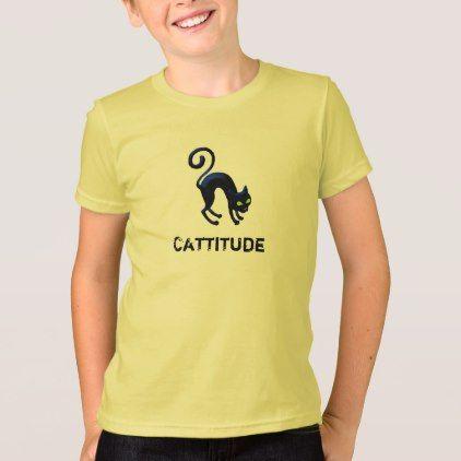 66697a42 Black Cat Cattitude T-Shirt | Zazzle.com | love | Shirts, T shirt y ...