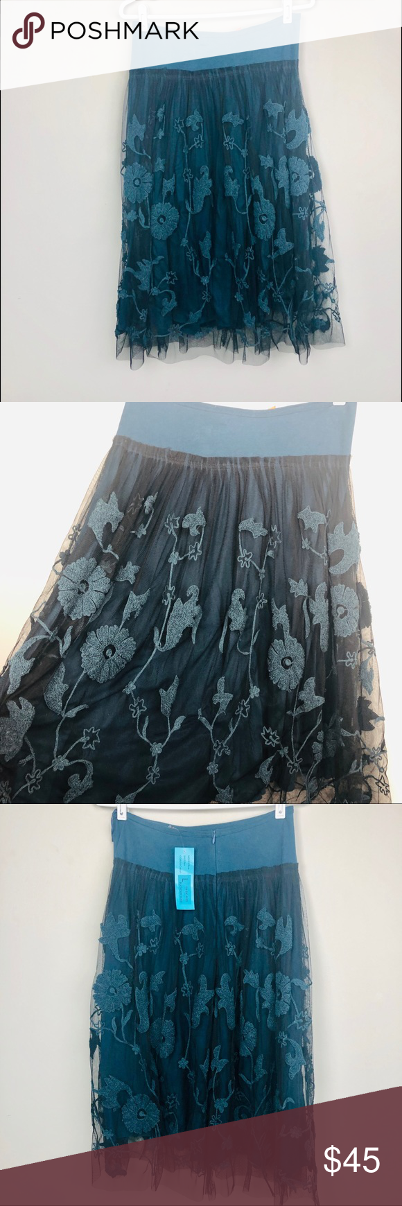 Chan Luu embroidered skirt large NWT Chan Luu skirt is size large. New with tags but is has a small...