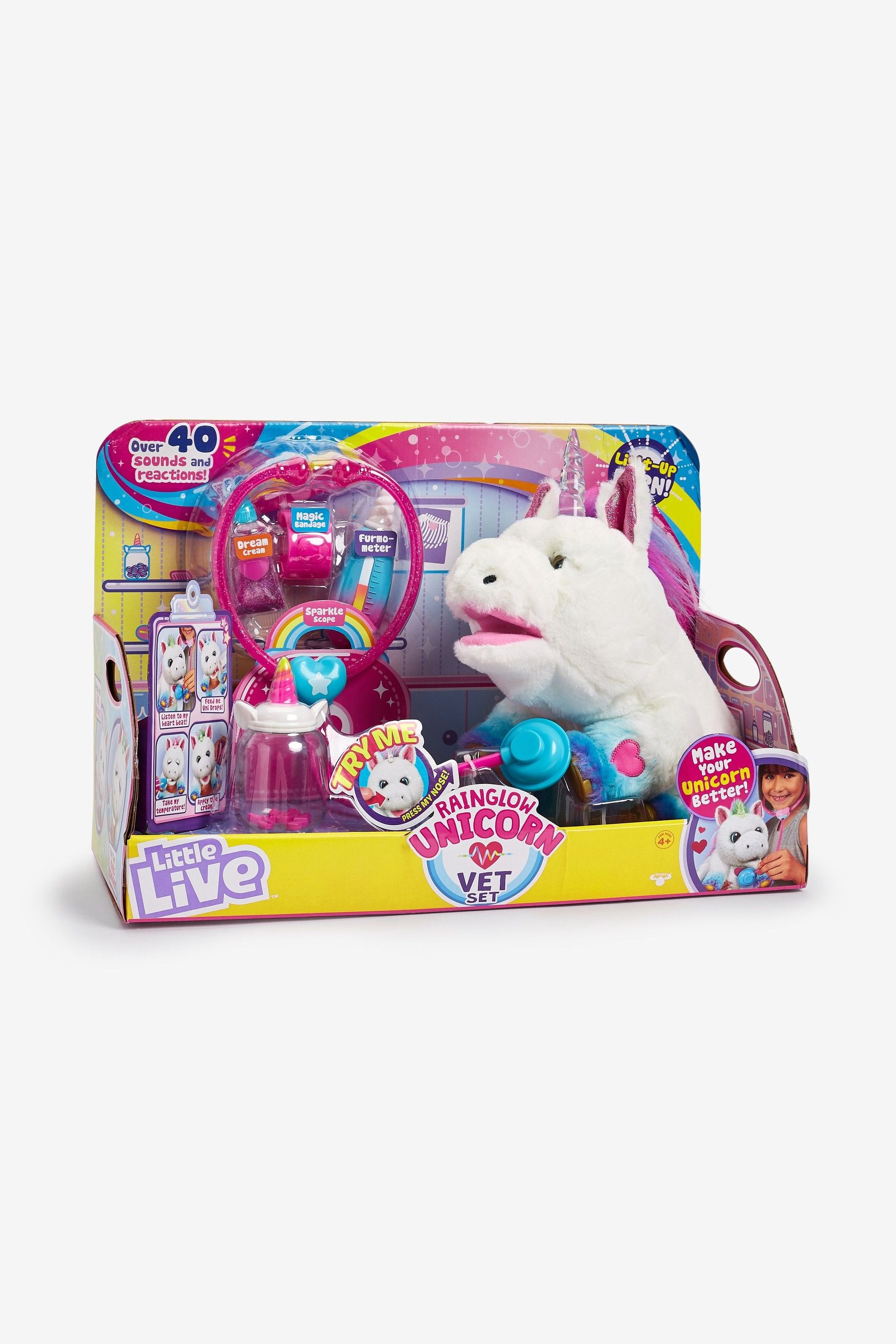 Girls Little Live Pets Rainglow Unicorn Vet Set Little Live Pets Pets Unicorn
