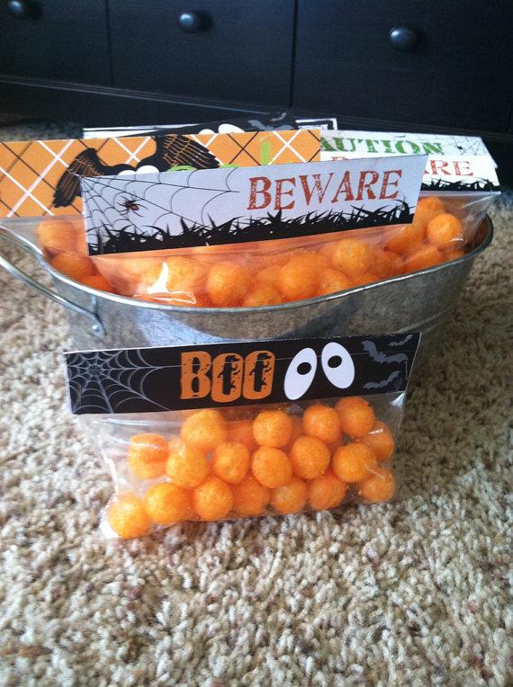 DIY printable halloween snack/treat bag toppers Perfect for handing - halloween treat ideas for school parties