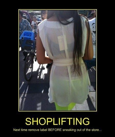 how to get away with shoplifting