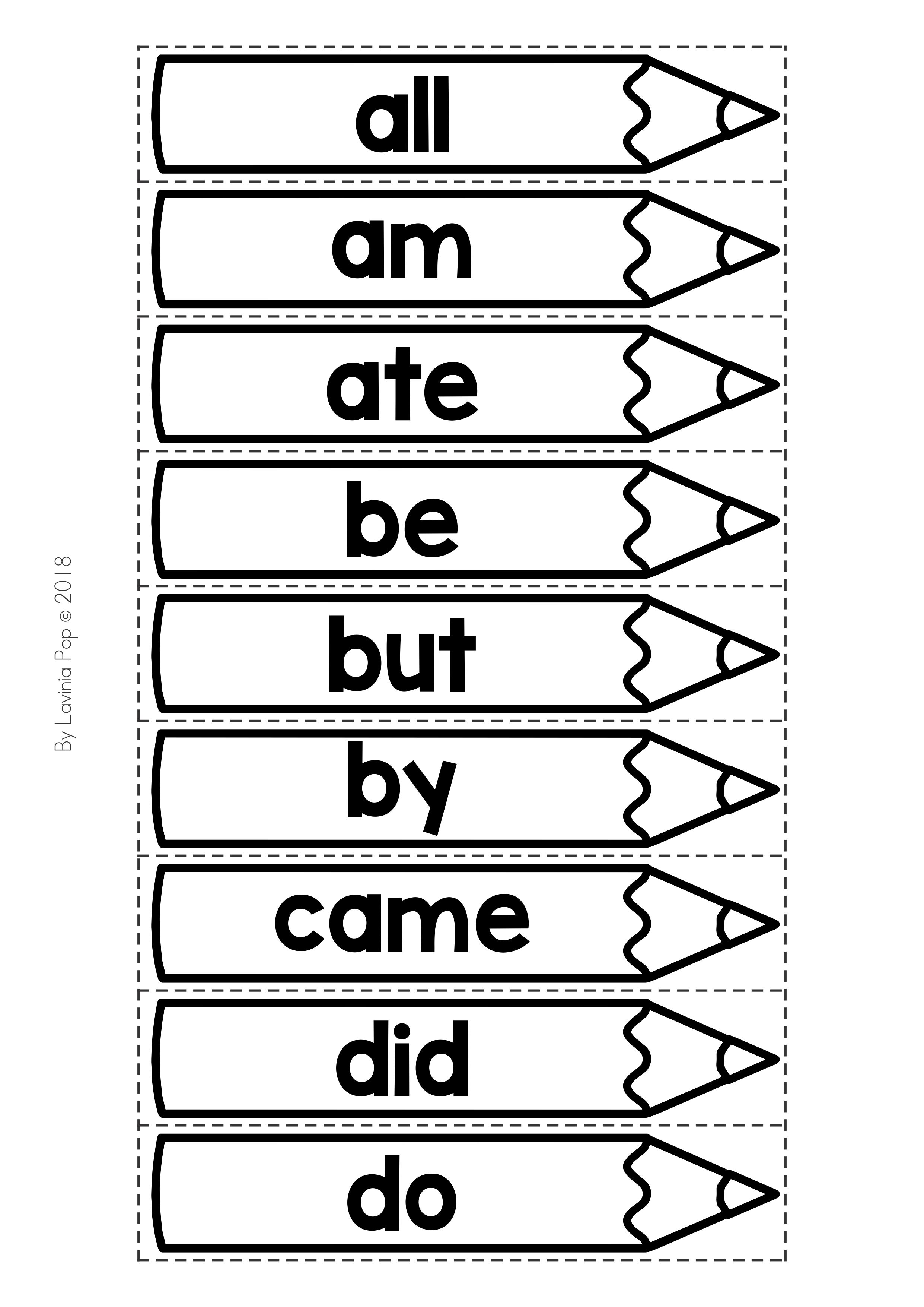 Back To School Literacy Centers For Kindergarten Black Amp White Sort The Sight Words Activity