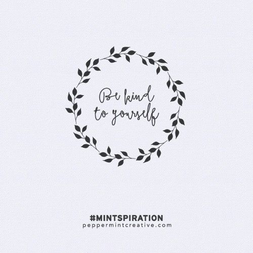 FREE printable pocket journal card. Mintspirational Mondays at peppermintcreative #projectlife #journalcard #freeprintable #mintspiration #qotd #poster #inspiration #life #quote be kind to yourself