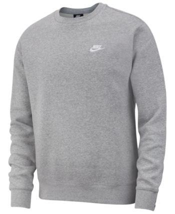 Nike Men's Club Fleece Crew Sweatshirt & Reviews Hoodies
