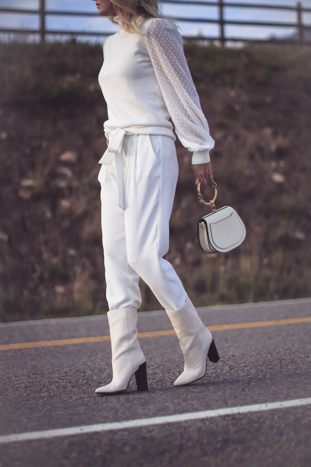 White Boots How To Wear Fashion Blogger Erin Busbee Of