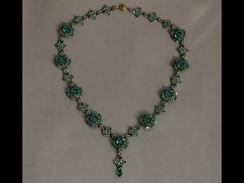 Sidonia's handmade jewelry - Sweet Romance beaded necklace tutorial #jewelry