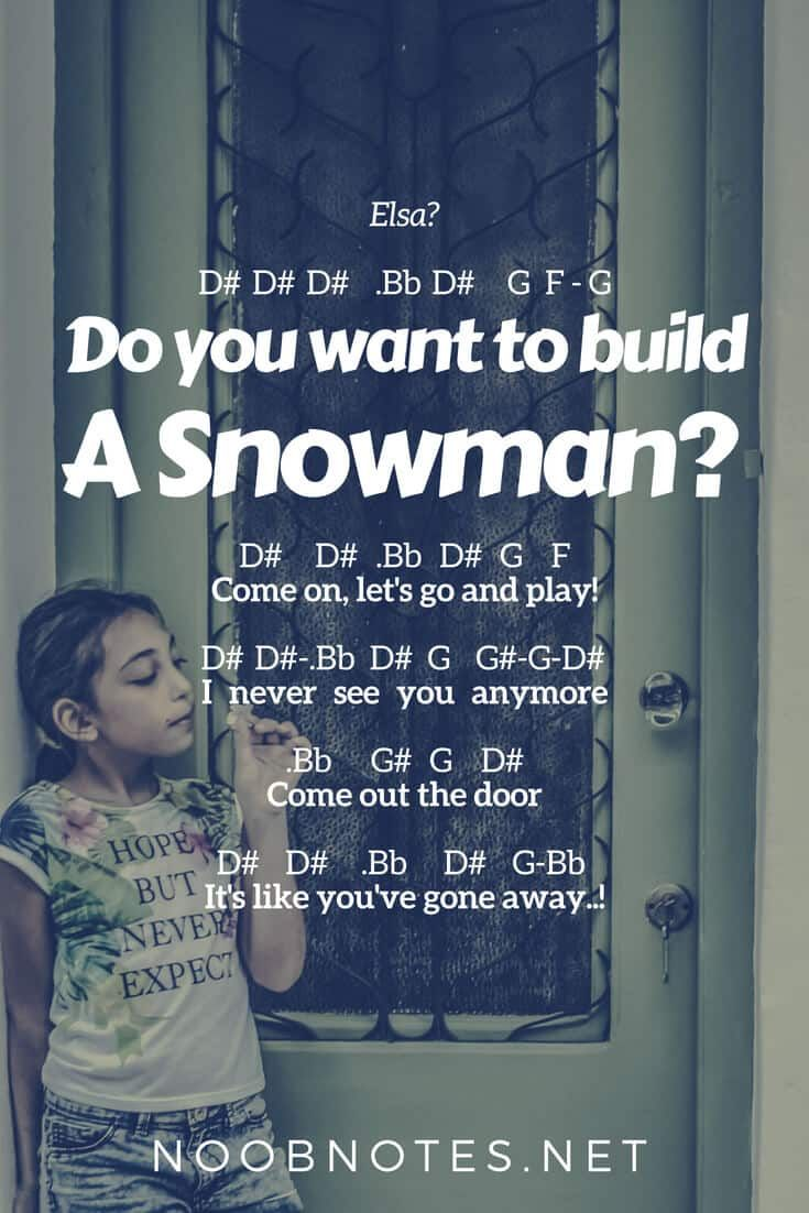 Do You Want to Build a Snowman? - Frozen (Disney) - music notes for newbies