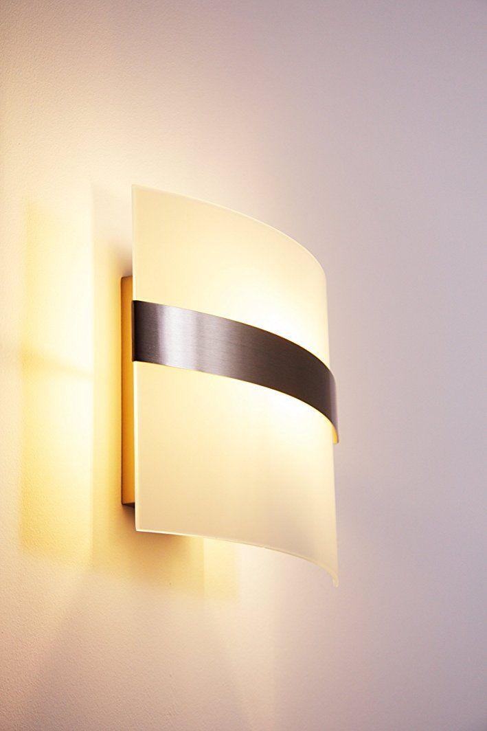 Wand Leuchte Avellino mit Echtglas Lampenschirm - Wandlampe mit ...