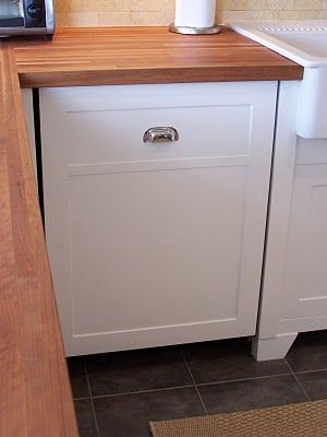 DIY Bosch dishwasher wood door Note in the photo above