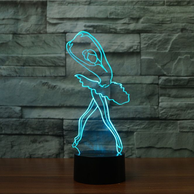 Ballerina 3d Illusion Lamp 3d Illusion Lamp 3d Led Lamp Lamp