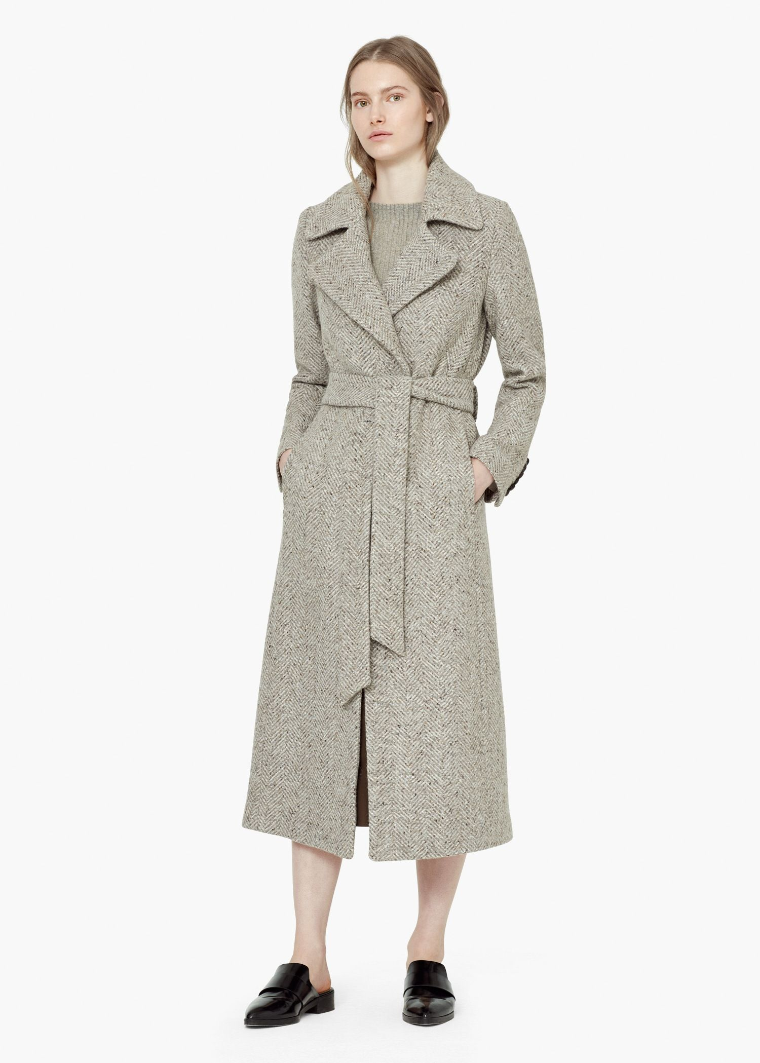 Abrigos largos lana mujer