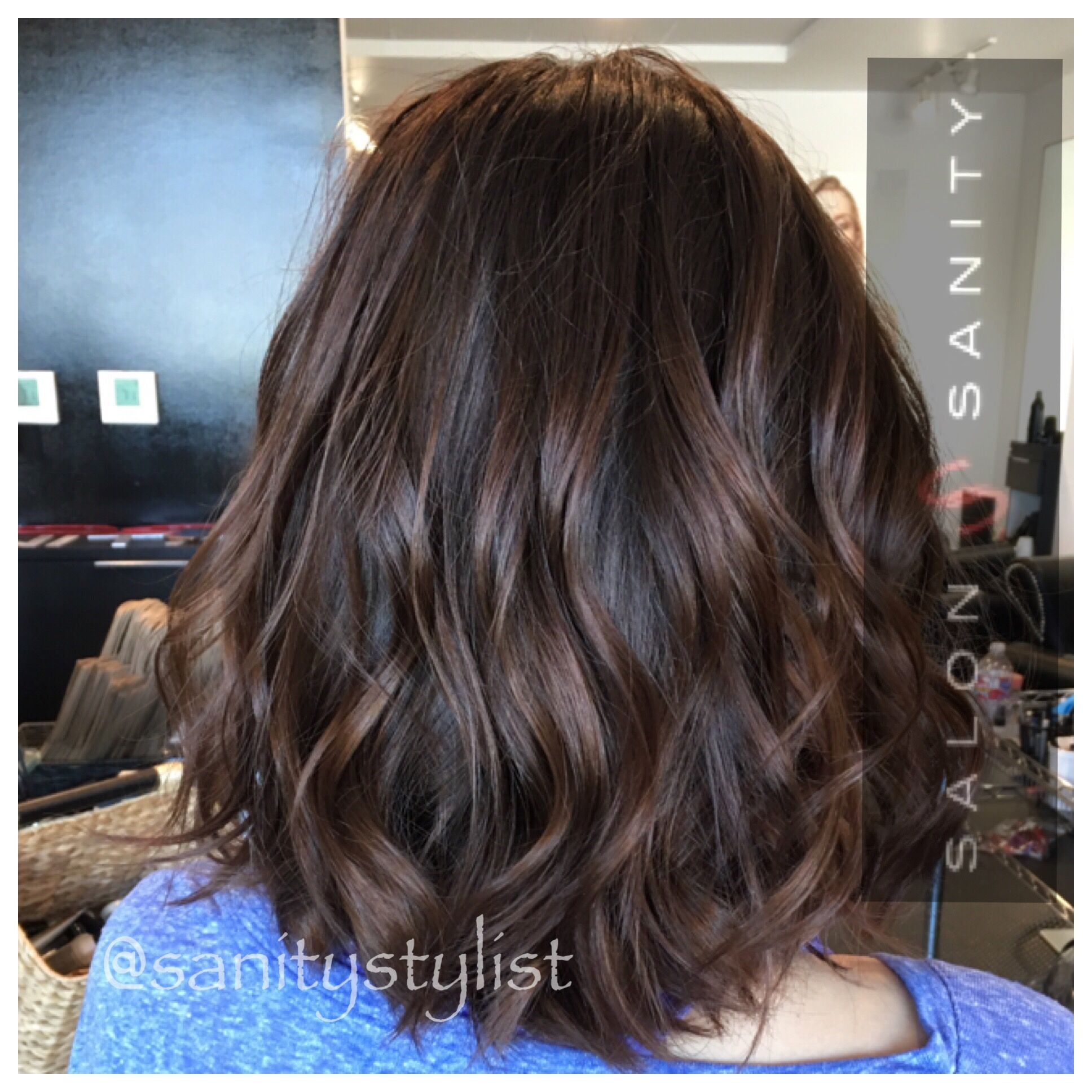Warm Beige Color With Redken Shades Eq Cream Chocolate Brunette Hair Color Brunette Hair Color Hair Styles